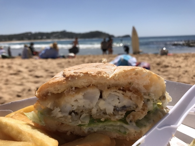 Avoca Beach Seafoods Fish and Chips
