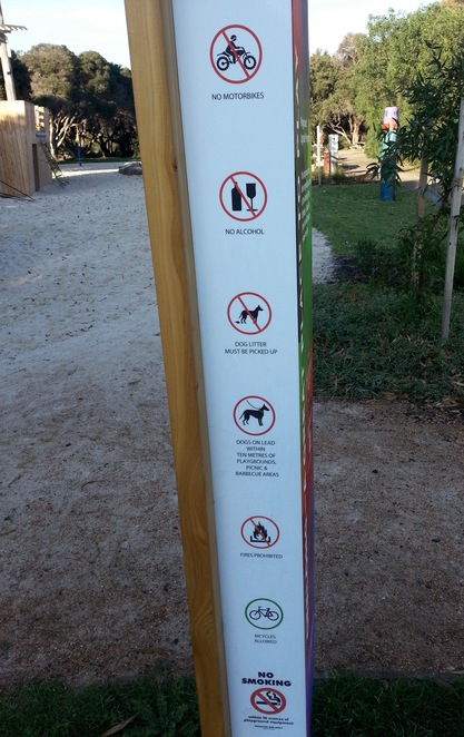 Barwon Heads Village Park, Pirate Park, Signpost, Rules