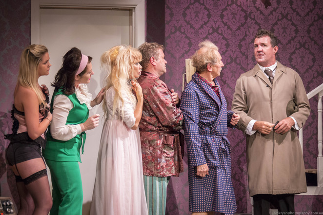 Don't Just Lie There Say Something, Dorothy Henderson, Eric James, David Edwards, Maria Buckler, Bruce Alker Jnr, Ruth Henderson, Brian Wilson, Grace Lennox, Clare Ryan, Hugh Brophy, sex, scandal, British farce