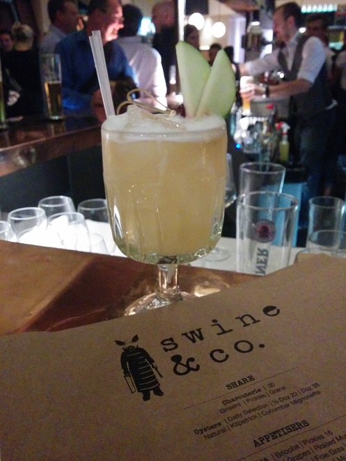 drinks at swine and co cocktail