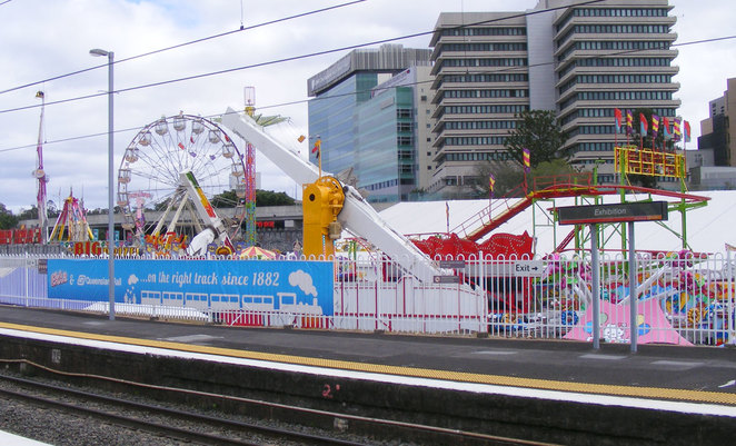 Train is the coolest way to Ekka