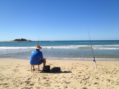 Fishing by the Maroochy River Mouth
