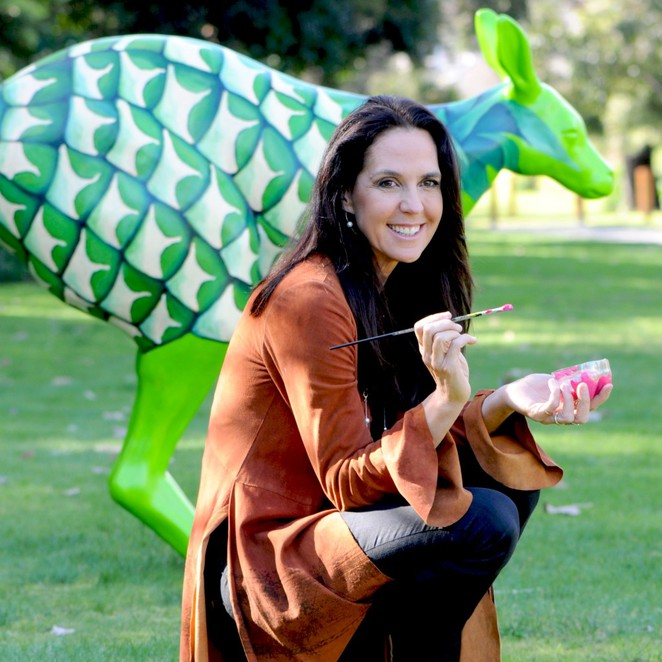 Hop For Hope, Alannah and Madeline, Yarra Valley, kangaroo, kangaroo art, Janine Allis