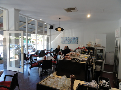 Inside Gillberries cafe Dulwich Adelaide