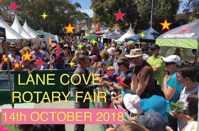 lane cove rotary fair 2018, community event, fun things to do, entertainment, music, markets, food stalls, rotary bbq, barbeque, fundraiser, charity, lane cove rotary, lane cove village shopping precinct, rides, volunteers