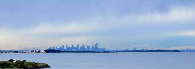 Melbourne Skyline from Point Cook, Victoria