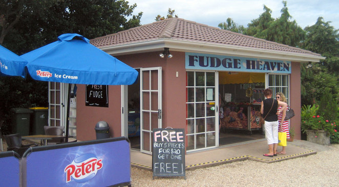 Don't forget to buy a few bags of fudge when you visit Mt Tamborine