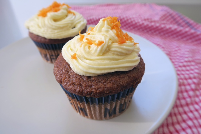 My Chef's Daughter Cafe Homemade Carrot Cupcakes