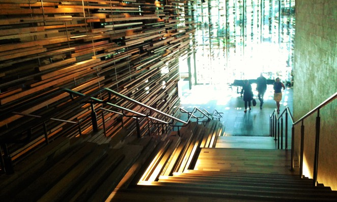 nishi building, new acton, canberra, ACT, monster bar, hotel hotel, max brenner, palace cinemas, grand staircase,