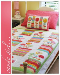 Patchwork bedspread by Janelle Wind