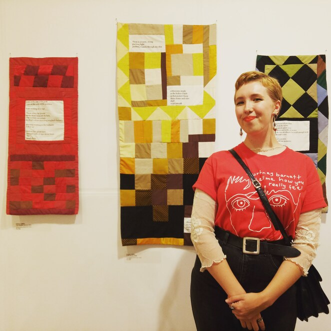 Patchwork, textile art, graduate, VCA, Eleanor James, artist, quilting, embroidery, exhibition