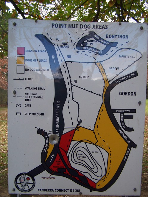 Point Hut Crossing Dog areas Murrumbidgee River Canberra