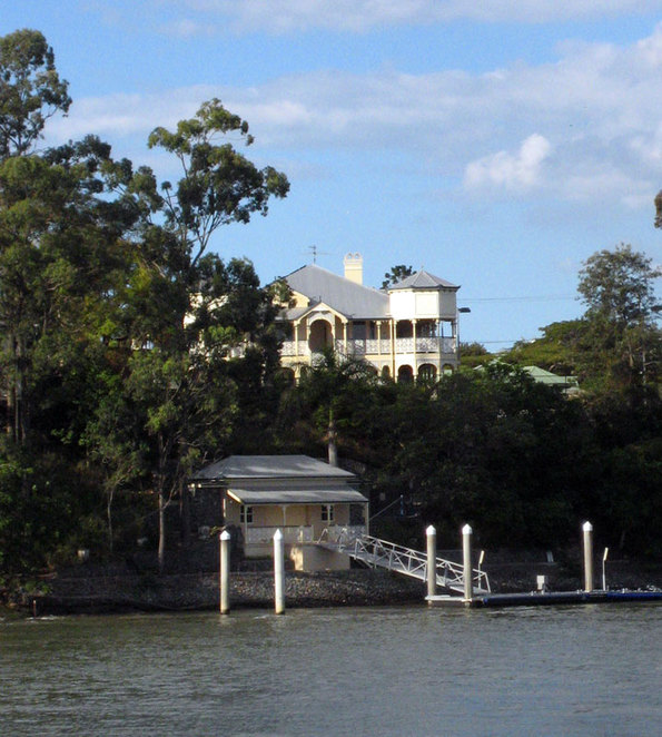 As the ferry goes around West End you will see many beautiful Historic Houses
