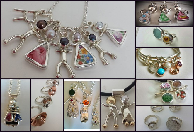 seaglass, jewellery, georgina cunningham, silver, gold, rings, bracelet, necklace, charms, frankston, hand made