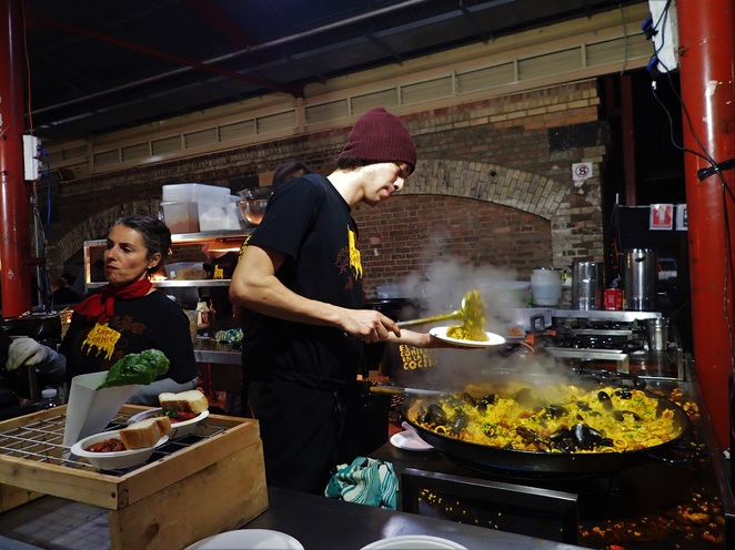 simply spanish at qvm winter night market melbourne