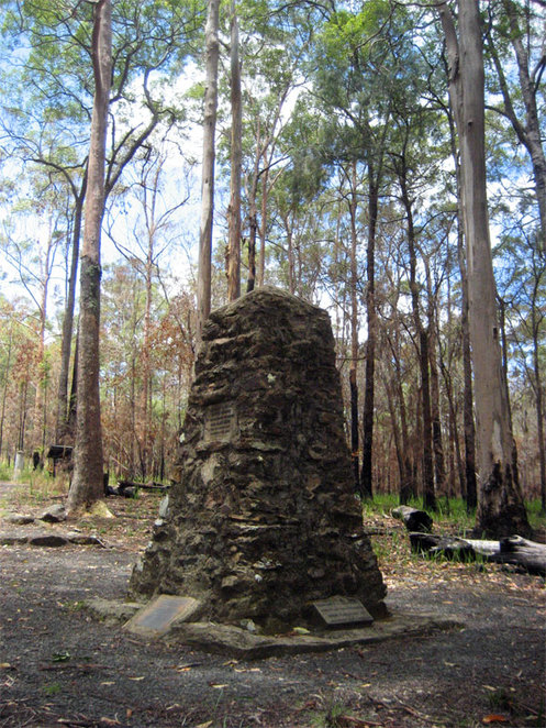 Settlers' Graves Monument at the Spicers Gap Camping Area