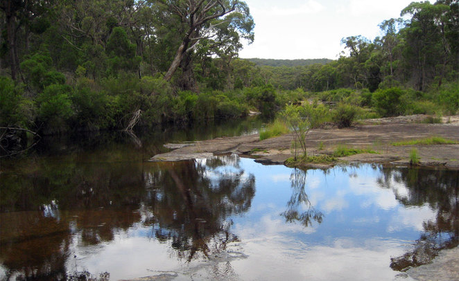 The river itself has lots of little swimming spots, especially at the camp grounds