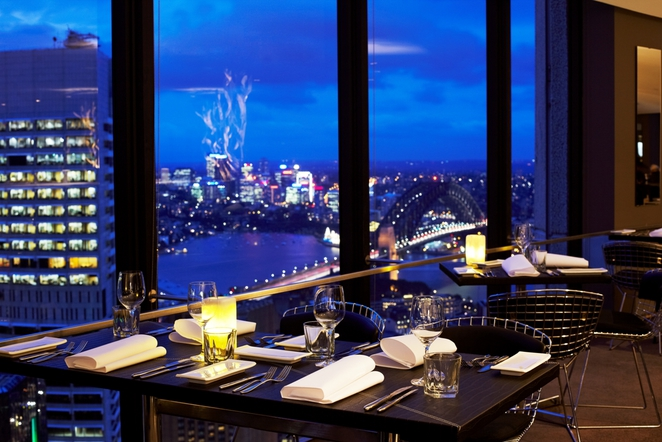 Spend a romantic dinner with an awesome view of the city