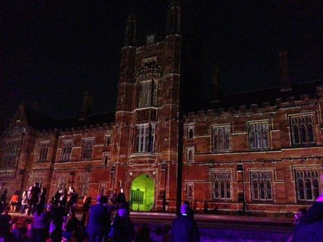 sydney, university, university of sydney, quad, quadrangle, hogwarts, vivid, path to the future, projection, light, artwork