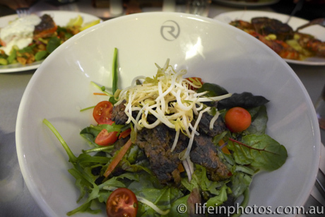 Thai Beef Salad, Great Food, Waterfront Dining, Great Food in Coomera, Riviera Yacht Club