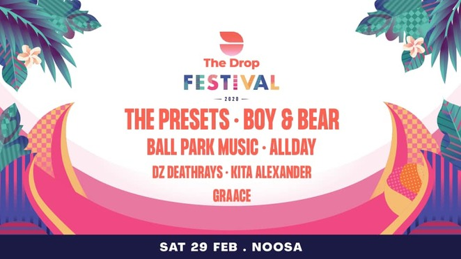 The 2020 Drop Festival, surfing, music