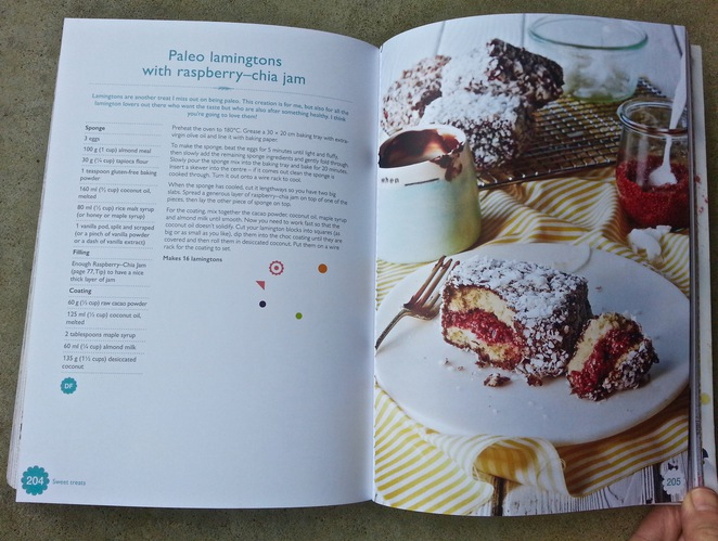 The Happy Cookbook, Lola Berry, Nutritionist, Gluten-free, sugar-free recipe book, paleo laminations with raspberry-chia jam