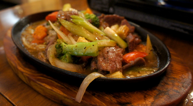 Sizzling Pepper Beef Plate