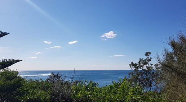 view, cafe, wollongong, ocean, sea