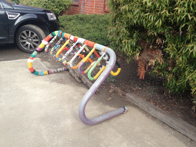 Yarn Bombing at Little Creatures, Geelong