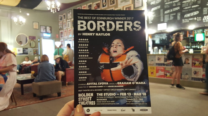 Adelaide Fringe 2018, Borders By Henry Naylor, Holden Street Theatre