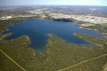 Aerial view, Prospect reservoir, water supply