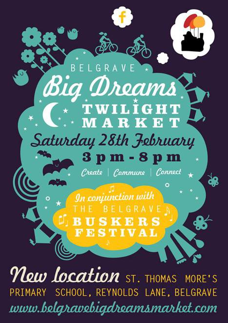 belgrave big dreams twilight market, the belgrave buskers festival, st thomas more primary school, buskers, markets, stalls, food, entertainment