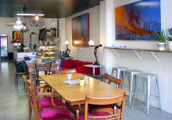 Visit the gallery and enjoy a cup of coffee at the coffee shop
