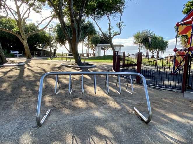 A large car park and bicycle racks are provided here