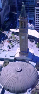 brisbane council, clock tower, city hall, george square