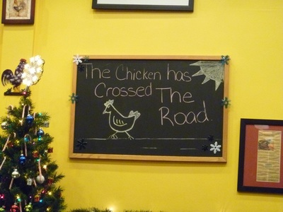 Chirping Chicken chicken has crossed the road
