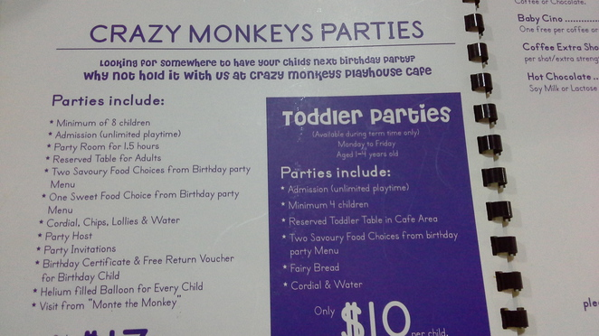 crazy monkey play cafe