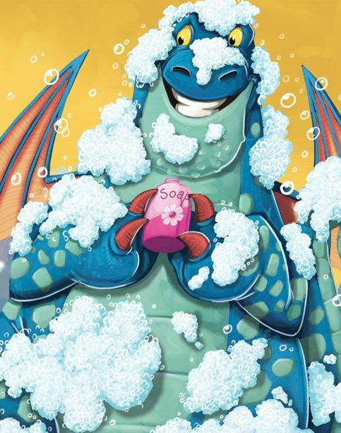 dragons, kids books with dragons, picture books about disease, books about germs for children