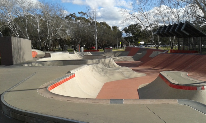 Eddison Park, Eddison Skate Park, school holidays, things to do with teenagers in Canberra, Woden