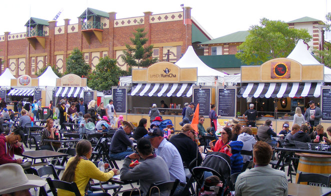 The Gourmet Plaza is the main place to eat, but there is plenty of other places around the show to get a wide range of food