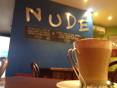 Enjoy a quiet coffee at Nude Deli Cafe @ Cotton Tree