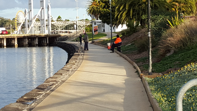 Fishermen near Cunningham Pier, Geelong