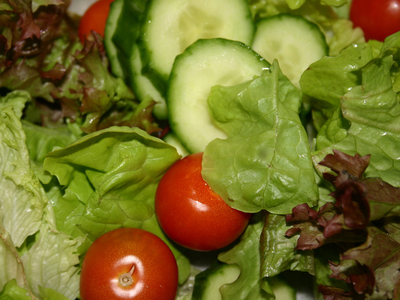 A simple but sumptuous garden salad at Hari's Vegetarian Restaurant in Ultimo. Image is from Hari's Vegetarian Restaurant website.