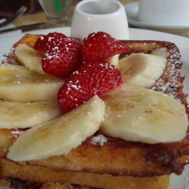 cafe, restaurant, breakfast, berry, food, french, toast