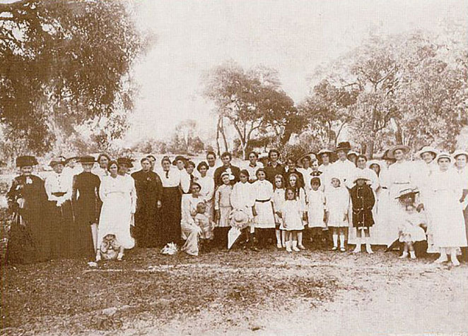 ANZAC Cottage 'Cheers for 102 Years' Concert. In honour of Anzac, a group of ladies who assisted in various stages of the work.