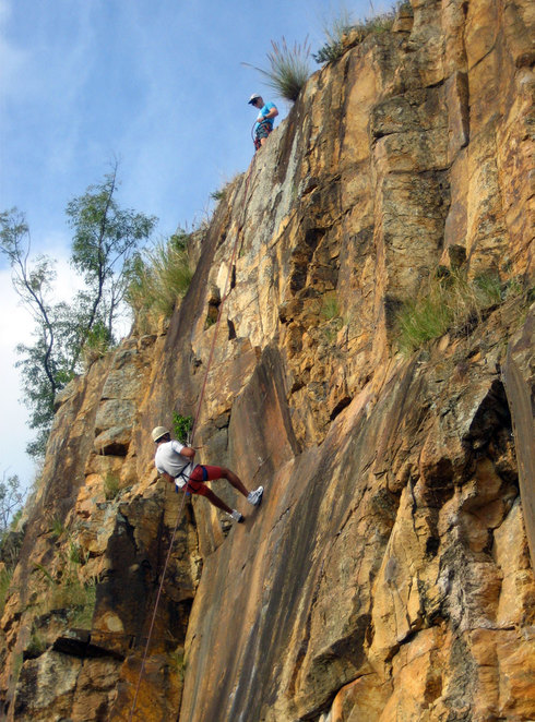 Abseiling at the Kangaroo Point Cliffs