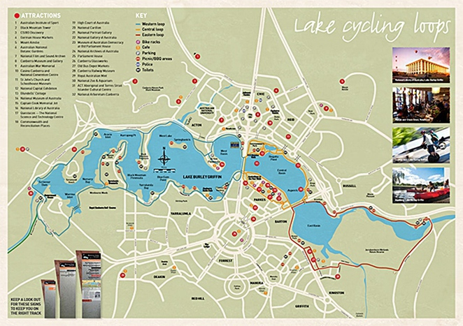 lake burley griffin, wlaking loops, cycling loops, runs, eatern loop, western loop, ACT,