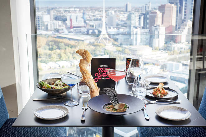 Modern New Yorker lunch at Sofitel Melbourne on Collins after you visit MoMA at the NGV
