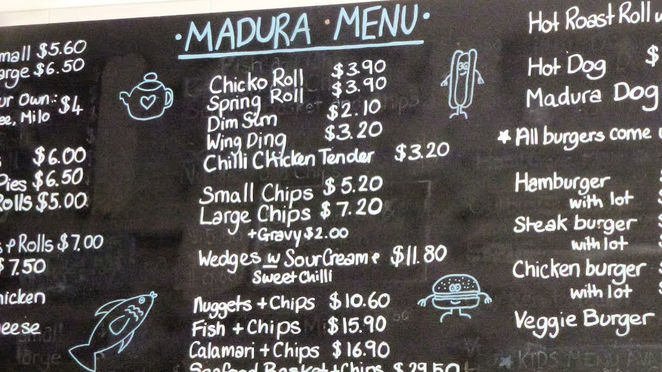 Nullarbor, Madura, Lunch