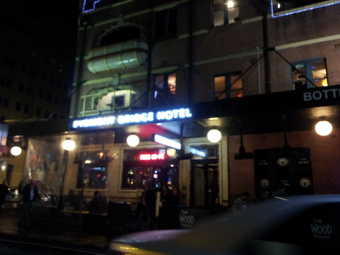 pyrmont, pyrmont bridge hotel, food, delicious, night out, city